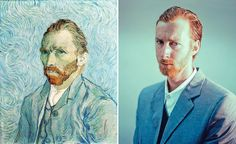 Famous paintings as photographs.