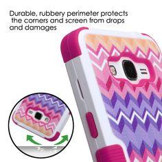 MYBAT TUFF Samsung Galaxy Grand Prime Case - Colorful Camo Wave