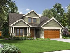 "The Wellborn: Spacious 2-level Living Takes The ""small"" Out Of Small House Plan"