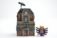 Boyds Bears Treasure Box - Boo's Haunted House & Spidey McBibble - Enesco