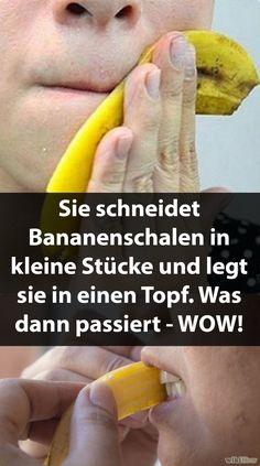 #bananen #bananenschalen #gesundheit #tricks Sie schneidet Bananenschalen in kleine Stücke und legt sie in einen Topf. Was dann passiert - WOW!
