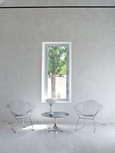 Marfa House | Barbara Hill Design Bertoia Diamond Chairs Here: http://www.paletteandparlor.com/products/bertoia-diamond-chair