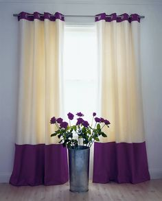 Curtains with Contrasting Top and Bottom Borders