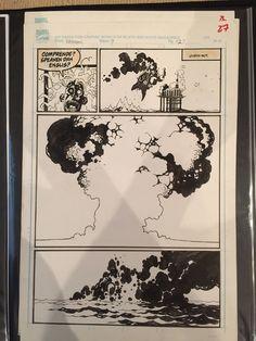 Mignola Eddy Current Comic Art