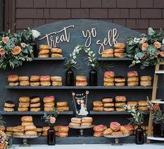 Treat Yo Self Wood Sign || Wedding Sign, Wooden Treats Table Sign, Donut Bar, Dessert Table, Birthday Party, Donut Theme, Sweats & Treats