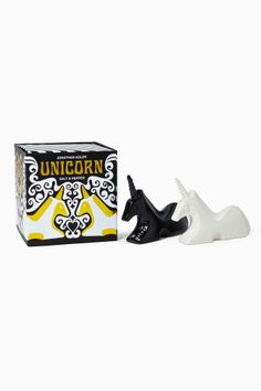 Pimenteiro e saleiro de unicórnio Jonathan Adler. #unicorn #unicornios