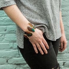 Stone bracelets add a touch of elegance and sophistication to an outfit