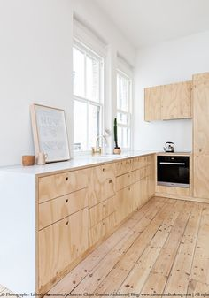 A small family flat renovated with plywood in Melbourne. Read on www.karinecandicekong.com