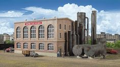Walthers - Cornerstone Series� :Empire Gas Works - Gas Plant Kit HO #Walthers