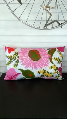 Vintage Floral Accent Pillow by MyCaseyGirl on Etsy