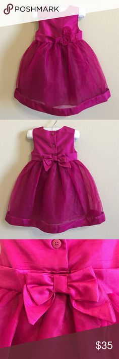 *FINAL SALE PRICE* NEW Gymboree Baby Dress Gorgeous Gymboree dress. NEW with tags. Has diaper cover attached. Pretty bow detail in the back. Button closure. Perfect for holiday pictures and parties!! *no trades, no holds, no modeling* Gymboree Dresses Formal