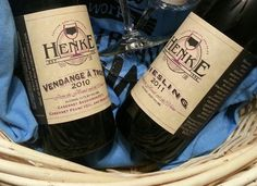 Ready for the raffle? 10/11/12  Here's the Henke Winery wine lover's basket: 2 bottles of wine and 2 wine glasses.