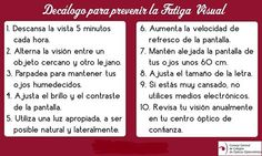 Consejos para prevenir la #fatigavisual.