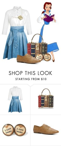 """Belle"" by fashionfreak4everr ❤ liked on Polyvore featuring Outsider, Disney, Dolce&Gabbana and ALDO"