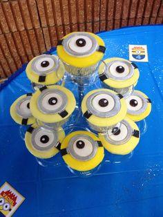 Cupcakes at a Despicable Me Party #despicableme #partycupcakes