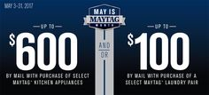 May is Maytag month 5/3 - 5/31 Shop the sales event and save!