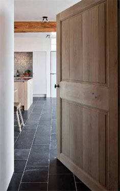 Love the combination of wood and belgian blue stone