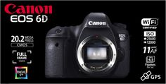 CANON EOS 6D Body built-in Wifi and GPS Rp.17.305.000.- | Bonus Battery LP-E6 + Backpack Berlaku s/d 11 Agustus 2013