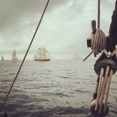 atyla-ship: The wiev from #Atyla during the #parade of #sail in the #tall #ships #races 2014 in #Bergen, #Norwey.