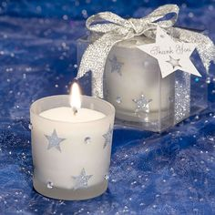 Celestial Wedding Favors include star candles, moon candles, placecard holders and Wish Upon a Star bottle stoppers Wedding Favor Table, Candle Wedding Favors, Candle Favors, Prom Themes, Wedding Themes, Wedding Ideas, Wedding Events, Luxury Wedding, Our Wedding