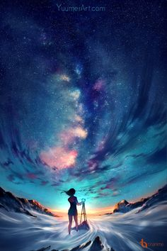"""yuumei-art: """" I've been looking over a lot of the nature photography I took in the past year, and the beautiful world makes me want to just go out and capture the sky. The tripod I ordered hasn't. Anime Beautiful, Beautiful World, Beautiful Scenery, Yuumei Art, Anime Pokemon, Kawaii Anime, Fantasy Landscape, Fantasy Art Landscapes, Anime Scenery"""
