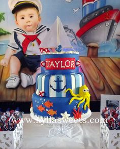 Sailor cake ~~~~~~~~~~~~~~~~ bolo Marinheiro by Kyllasweets, via Flickr