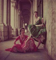 Fashion photo by Milton Greene, 1950s