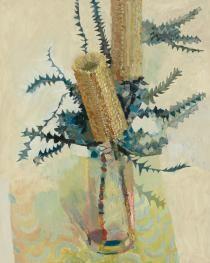 Silver Princess Gum flowers oil on linen, x 61 cm Abstract Flower Art, Flower Mural, Australian Native Flowers, Australian Wildflowers, Australian Artists, Painting Inspiration, Art Inspo, Flower Artists, Still Life Flowers