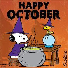Happy October Snoopy & Woodstock