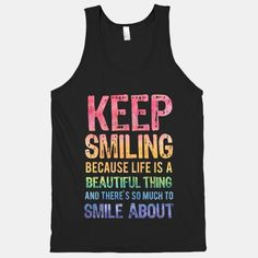 Keep Smiling (Dark Tank)  #smile #beautiful #monroe
