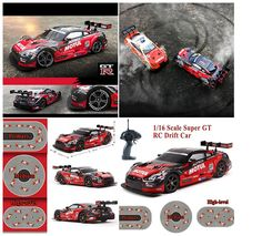 Super GT RC Sport Racing Drift Car Remote Control 1:16 Module 4WD RTR Hobby-Ace