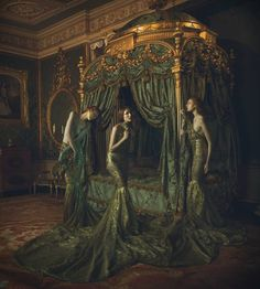 "Saatchi Art Artist Miss Aniela; Surreal Photography, ""Gilt, medium - Limited Edition 1 of Color Photography, Fashion Photography, Digital Photography, Colossal Art, Arte Horror, Illustration, Belle Photo, Painting Frames, Dark Art"
