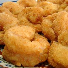 Shellfish Recipes: Fried Butterflied Shrimp - Skiff Life - Flats and Back Bay Fishing Fried Shrimp Batter, Deep Fried Shrimp, Fried Shrimp Recipes, Breaded Shrimp, Shrimp Dishes, Seafood Recipes, Cooking Recipes, Shellfish Recipes, What's Cooking