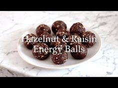 Deliciously Ella - Hazelnut and Raisin Energy Balls - YouTube