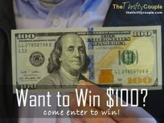 Want to win $100 cash?!  Its easy to enter - just come leave a comment on the post to win!
