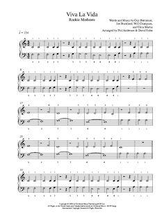 viva la vida sheet music pdf