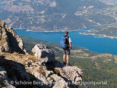 Ausblick vom Grat des Pic de Morgon auf den Lac de Serre-Poncon – Foto: Mario Hübner