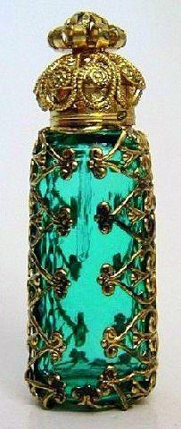 Czech glass perfume bottle ♥