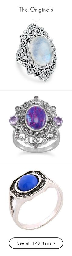 """The Originals"" by smilxngstars on Polyvore featuring jewelry, rings, accessories, blue, bling jewelry deals, sterling silver jewellery, sterling silver heart ring, rainbow moonstone ring, sterling silver rings und birthday rings #sterlingsilverjewelryrings #sterlingsilverjewelryaccessories"