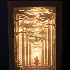 Peter Pan papercut lightbox home decor lamp decorative night Silhouette Cameo 4, Crea Design, Decorative Night Lights, Licht Box, Shadow Box Art, Paper Light, Paper Artwork, Minimalist Home Decor, Kirigami