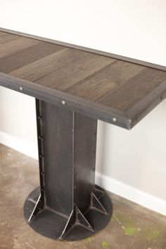 Custom Made Console Table (Sofa/Side Table) Vintage, Industrial, Urban/Modern/Loft Design. Reclaimed Wood Avail.