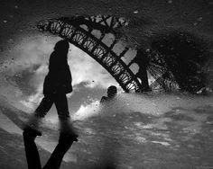 eiffel tower puddle Reflection. By dp Chaigneau fotos