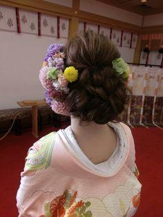 生花いっぱいの和装の前撮り at のの の結婚式 |City Wedding 大阪 梅田、京都、神戸 ブライダルヘアメイク出張 ☆ヘアメイクアーティストモリの美女採集