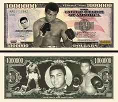 MOHAMED ALI - BILLET MILLION DOLLAR US! Collection BOXE Sport Cassius Clay Boxer
