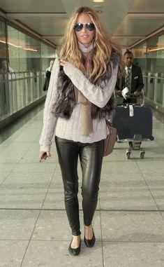 la modella mafia Elle Macpherson Fall 2012 fur style icon street style 2