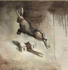 Visual artist Samuli Heimonen GONE. Acrylic and oil on canvas. 2011