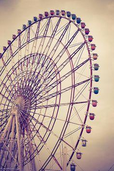 ferris wheel, tokyo