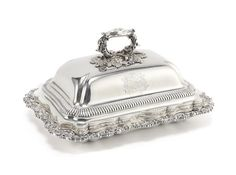 A George IV silver breakfast dish and cover by Paul Storr, London 1819, cover 1820