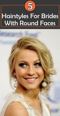 Splendid Hairstyles For Brides With Round Faces. Or girls with a date to homecoming or prom. The post Hairstyles For Brides With Round Faces. Or girls with a date to homecoming or pr… appeare ..