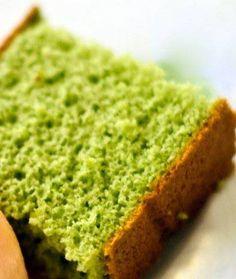 Nokcha cake - Korean green tea sponge cake.